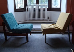 Two-chairs towards each other